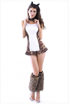 Coffee Naughty Womens Sexy Halloween Cat Costume