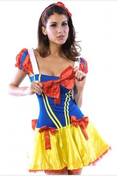 Blue Girls Snow White Cute Halloween Fairytale Costume