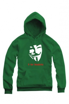 Cool Womens Pullover Long Sleeves V for Vendetta Printed Hoody