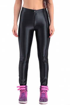Modern Ladies Neon All-match Shaping Metallic Leggings