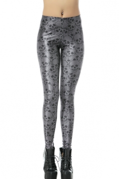 Black Sexy Ladies Skinny Skeleton Leggings