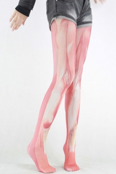 Red Womens Halloween Muscle Pattern Tight