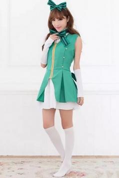 Green Cute School Girl Halloween Costume