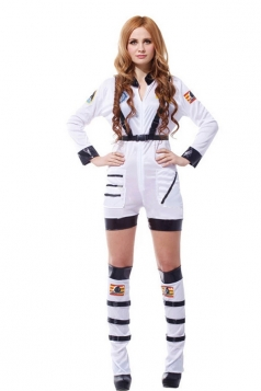 White Sexy Womens Astronaut Halloween Costume