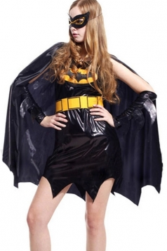 Cool Female Batman Costume with Cloak