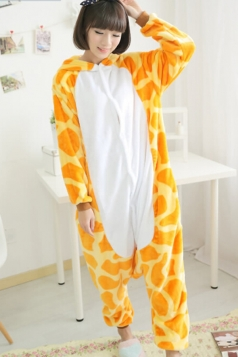 Yellow Exquisite Girls Deer Pajamas Halloween Jumpsuit Costume