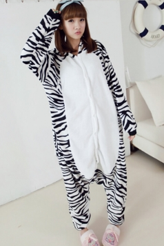Black Sweet Womens Pajamas Halloween Jumpsuit Zebra Costume