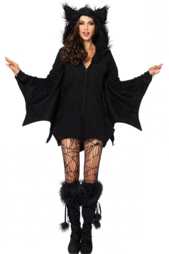 Black Womens Cat Halloween Classic Costume