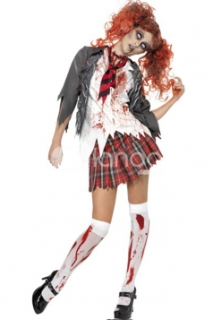 White Zombie School Girls Halloween Costume