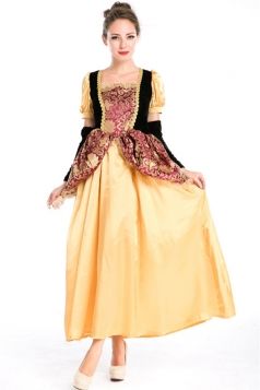 Yellow Womens Renaissance Princess Royal Costume