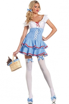 Blue Sexy Adults Sweet Lady Dorothy Outfit Halloween Costume