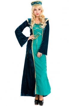 Green Arabian Royal Princess Fancy Ladies Halloween Costume