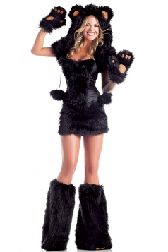 Black Bear Womens Halloween Animal Costume