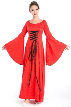 Red Ladies Retro Halloween Royal Womens Costume