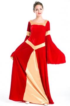 Red Fancy Halloween Royal Ladies Vintage Costume