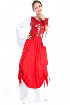Red Halloween Royal Womens Renaissance Costume