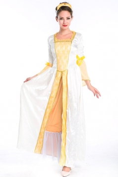 White Royal Womens Retro Princess Halloween Costume