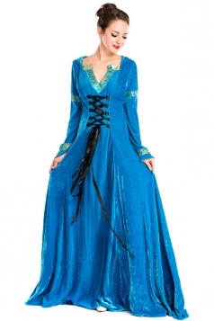 Blue Vintage Halloween Royal Womens Costume