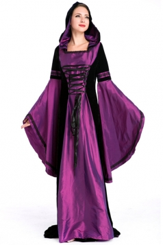 Purple Elegant Renaissance Queen Halloween Royal Costume
