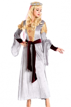 White Royal Ladies Medieval Halloween Princess Costume