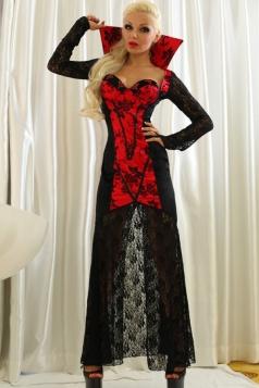 Black Sexy Womens Vampire Halloween Classic Costume
