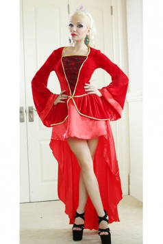 Red Elegant Adult Royal Princess Medieval Renaissance Costume