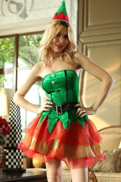 Christmas Tree Fancy Santa Helper Costume