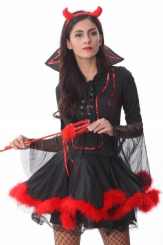 Vampire Mistress Halloween Devil Costume