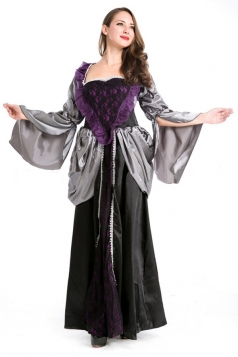 Black Elegant Queen Halloween Witch Costume