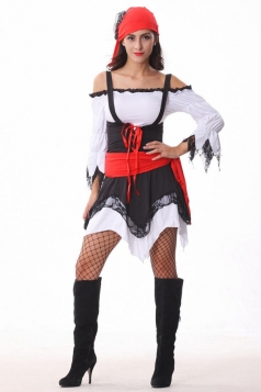 Sexy Ladies Black Halloween Pirate Costume