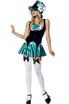 Green Womens Alice In Wonderland Halloween Maid Costume