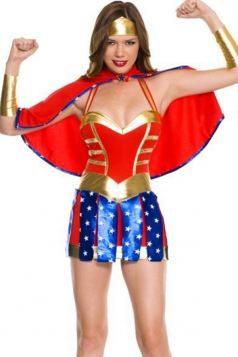 Fashion Wonder Woman Halloween Adult Superhero Costume