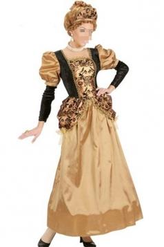 Yellow Womens Halloween Loyal Renaissance Queen Costume
