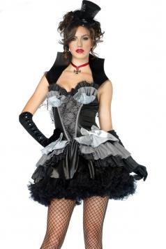 Black Womens Creatures of the Night Halloween Vampire Costume