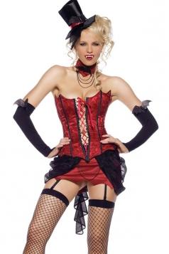 Red Sexy Halloween Womens Horror Vampire Costume