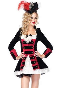 Black Sexy Ladies Charming Pirate Captain Halloween Costume