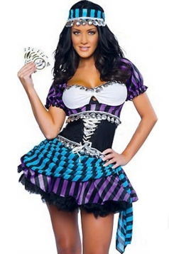Purple Womens Sexy Esmeralda Indian Dance Halloween Costume