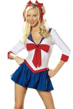White Cute Ladies Sailor Moon Cosplay Halloween Costume