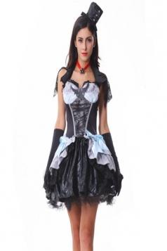 Black Stylish Womens Dress Halloween Vampire Costume