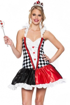 Red Halloween Queen Heartbreaker Magician Evil Queen Costume