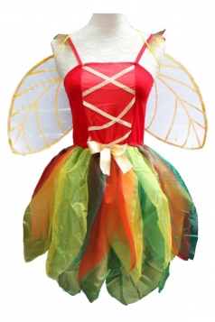 Red Cute Womens Dragonfly Halloween Fairy Costume