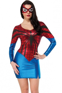 Red Spider Womens Sexy Superhero Halloween Cool Costume