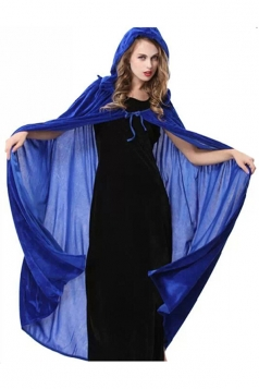 Blue Halloween Vampire Cloak Cosplay Sexy Womens Witch Costume