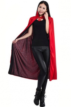 Black Red Head Halloween Death Vampire Magician Womens Costume
