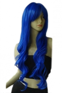 Blue Classic Womens Long and Curly Hair Wig