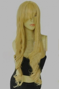 Gold Classic Womens Long and Curly Hair Wig