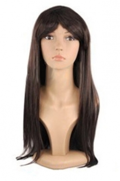 Brown Cosplay Classic Womens Straight Hair Wig