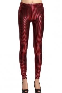 Ruby Elegant Ladies Stripe Printed Striped Leggings