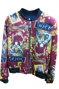 Ruby Modern Ladies Long Sleeve Zip Pontiff Printed Jacket