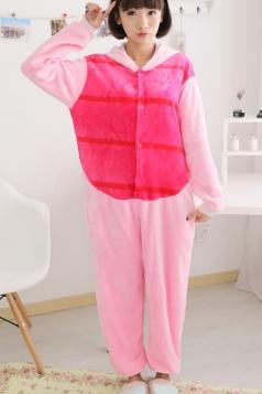 Pink Cute Ladies Comfortable Flannel Pajamas Piglet Jumpsuit Costume